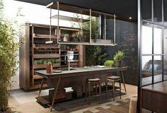 Functional kitchen designs in a modern dramatic look - Home Design Ideas Kitchen Furniture, Kitchen Interior, Küchen Design, House Design, Design Ideas, Interior Decorating, Interior Design, Cuisines Design, Home Kitchens