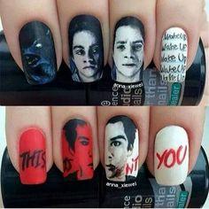 Stiles Teen Wolf Nails!!