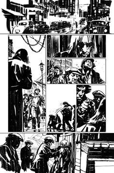 John Paul Leon _ American Vampire Comic Book Layout, Comic Book Pages, Comic Book Artists, Comic Artist, Comic Books Art, Hipster Noir, Comic Tutorial, Graphic Novel Art, Arte Obscura