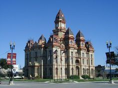 Beautiful courthouses all over Texas and this one on Lockhart is awesome.