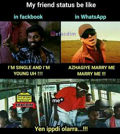 Tamil Funny Memes, Love Memes Funny, Some Funny Jokes, Funny Vid, Hilarious, Jokes Quotes, True Quotes, Qoutes, Funny Quotes