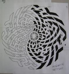 Circular swastika pattern. :::: ✿⊱╮☼ ☾ PINTEREST.COM christiancross ☀❤•♥•* :::: رفيعه هانم