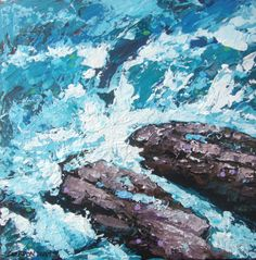 Rocks n' waves by Gordon Hunt | Artfinder