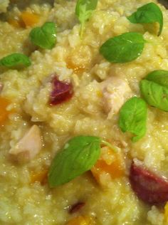 Thermomix Chicken, Pumpkin & Chorizo Risotto