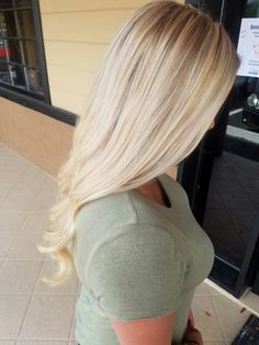 Bright blonde highlights + lowlights