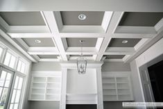 Our Formal Living Room Blank Slate Wooden Fireplacefireplace Bookcasecoffered Ceilingsmolding