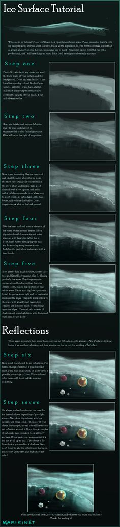 Ice Surface Tutorial by Karikinet.deviantart.com on @deviantART