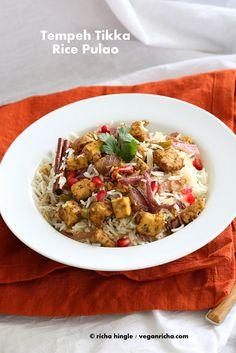 Tempeh Tikka Pulao. Vegan Gluten-free Recipe