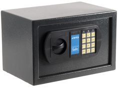 The Xenta Electronic Security Safe - similar to a hotel room safe and ideal for a home office - www.workfromhomewisdom.com/product-reviews/office-product-reviews/xenta-electronic-security-safe/