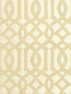 imperial trellis fabric - sand/ivory