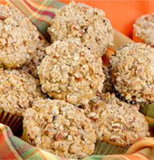 Sweet Potato Streusel Muffins #recipe - sweet and savory, and the right amount of healthy for a dessert.