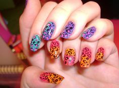 Nail designs animal print