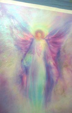 ARCHANGEL Raphael Canvas Hand Finished OOAK by AmazingAngelArt, $229.00