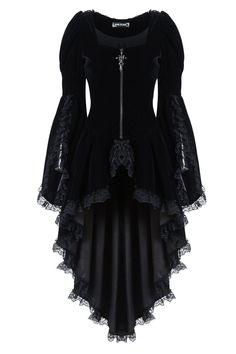 black *velvet* coat ♥