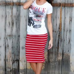 Striped Midi Skirt The striped midi skirt is so eye-catching you'll want to grab it every morning. Perfect with graphic tees, cardigans or blazers, you'll look put together & full of style! Suggested user  Fast shipper  Smoke free dog friendly home Price firm unless bundled   No lowest, or model inquiries plz  ❔'s...just ask  Boutique Skirts Midi