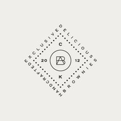 Logo, logotype, monogram designed by Richard Baird for Peruvian brownie brand, Brownies Atelier.