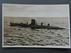 Foto Postkarte 2. WK  Deutsches U - Boot U9