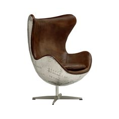 The Nobody's Wingman Chair loves to claim center stage, and it's easy to see why. Soft tan leather sits inside a distressed, airplane inspired metal panelling, fitted atop a four leg swivel base. Whole...  Find the Nobody's Wingman Chair, as seen in the furniture-chairs-lounge-chairs Collection at http://dotandbo.com/collections/furniture-chairs-lounge-chairs?utm_source=pinterest&utm_medium=organic&db_sku=95221