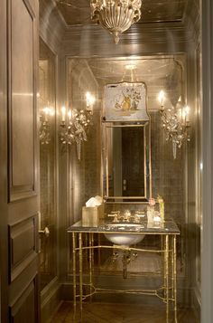 Gilded bathroom