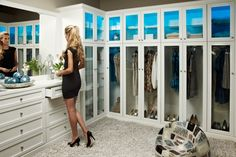 Furniture, Splendid Closet Interior Decoration Inspiration Photos: Modern White Closet From California Closets Of Las Vegas California Closets, Walk In Robe, Walk In Closet, Modern Closet, Modern Room, Stolmen Ikea, Makeshift Closet, Large Wardrobes, Dressing Room Closet
