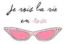 Je vois la vie en rose - 'I see life in pink' #glasses
