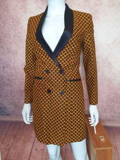 Robe veste en 100% coton wax Blazer, Jackets, Fashion, Jacket Dress, Cotton, Down Jackets, Moda, Fashion Styles, Blazers