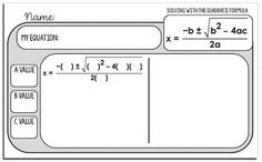 Are you looking for fun, hands-on activities to teach factoring quadratics or the quadratic formula? In this post are lots of ideas and free resources for helping students when teaching lessons on quadratics. Algebra Activities, Maths Algebra, Teaching Math, Calculus, Teaching Ideas, Math Resources, 9th Grade Math, Math Classroom, Classroom Ideas