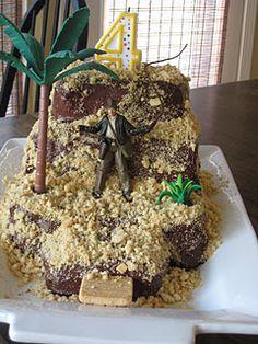 Indiana Jones Bday Cake - super simple!