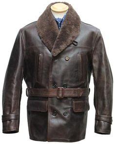 "Shawl Collar Barnstormer FQHH, 42"" - Aero Leather, Scotland, UK"