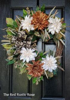 Wreaths For Front Door, Door Wreaths, Autumn Wreaths, Grape Vines, Base, Doors, Rustic, Free Shipping, Red