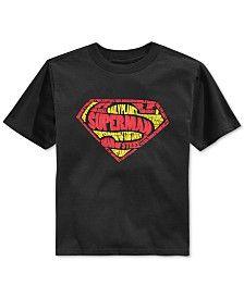 Superman Little Boys' Logo Shield T-Shirt