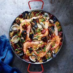 Foodie Friday: Spanish paella with chorizo and seafood