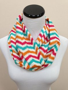 NEW Abstract Chevron Infinity Scarf by oneforonecreations on Etsy, $20.00