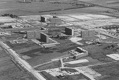 1968 Rotterdam Luchtfoto Een oude foto van Ommoord......