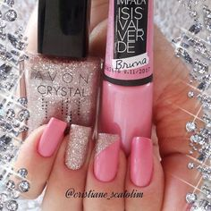 Nails Decorated 2017 photos of delicate and perfect nails Toe Nails, Pink Nails, Glitter Nails, Silver Glitter, Glitter Pedicure, Glitter Art, Fabulous Nails, Perfect Nails, Stylish Nails