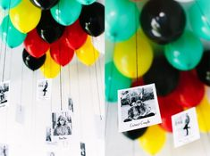 10 Pinterest-Worthy Party Hacks - Use photos (insta photos are the coolest) as party balloon weights!
