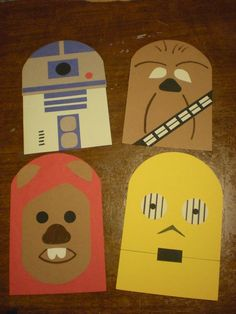Star Wars R2-D2 craft for kids. Two versions and printables