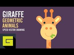 Speed Drawing, How to draw Cute Giraffe, Adobe Illustrator - YouTube