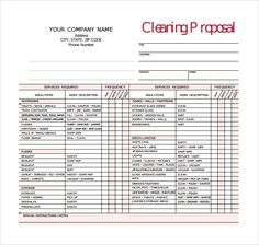window estimate template sample cleaning proposal template free documents in pdf
