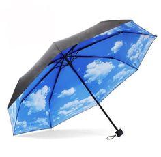 Newest Anti UV Sun Protection Umbrella Sky 3 Folding Parasols Rain Umbrella  Levert Dropship dig6825 #Affiliate