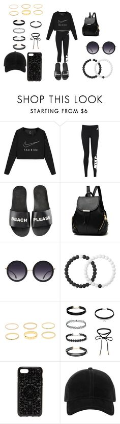 """My outfit"" by ayoomissyy on Polyvore featuring NIKE, Schutz, Alice + Olivia, Lokai, Felony Case and rag & bone"