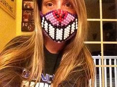 Cheshire Cat Grin Kandi Mask by QueenRaver on Etsy, $13.00