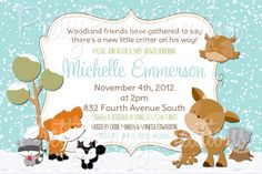 WINTER WOODLAND baby shower or birthday by PrettyPartyCreations, $11.50
