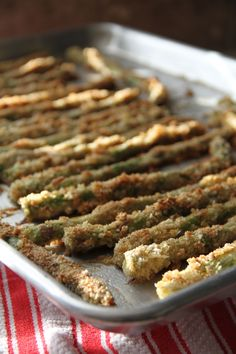 Baked Panko-Crusted Asparagus- Yum!
