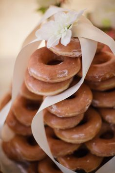 16 Delicious Doughnut Displays  on WeddingWire