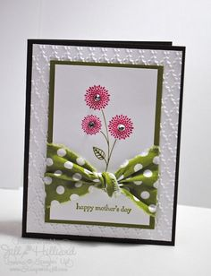 love the use of fabric - Stampin UP