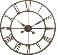 River City Clocks Metal Skeleton Tower Clock - Large Wall Clock - Transitional - Clocks - by Expressions of Time, LLC