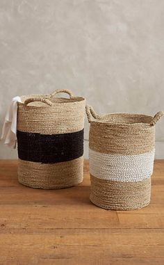 These baskets make excellent clothes hampers. #anthrofave