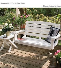 Little Cottage Company Classic 4ft Poly Lumber Porch Swing