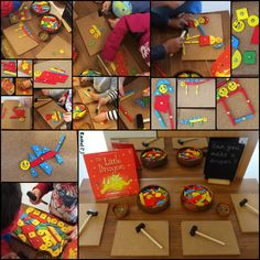"nvitation to create pictures with Tap A Shape - great fine motor work! from Rachel ("",) Shape Activities, Eyfs Activities, Gross Motor Activities, Do Dragons Exist, Knights And Castles Topic, Spring Term, Staar Test, Early Years Classroom, Tuff Spot"